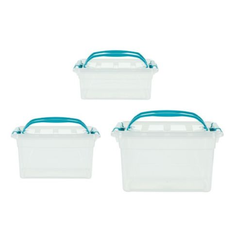 Aqua Bathroom Vanity Carry Storage Boxes